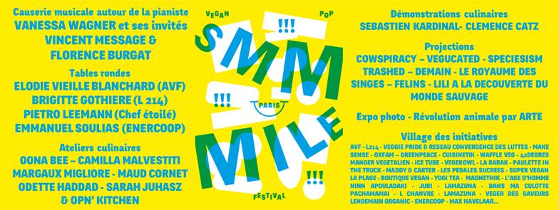 Le programme GRATUIT du Smmmile - Vegan Pop Festival
