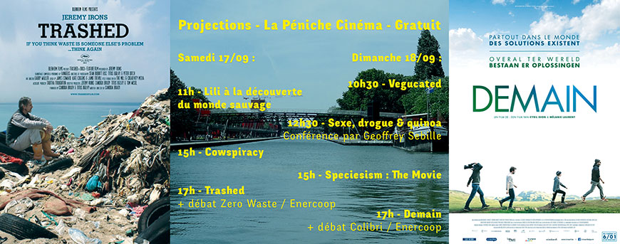 Les projections et débats de la Péniche Cinéma au Smmmile festival - GRATUIT